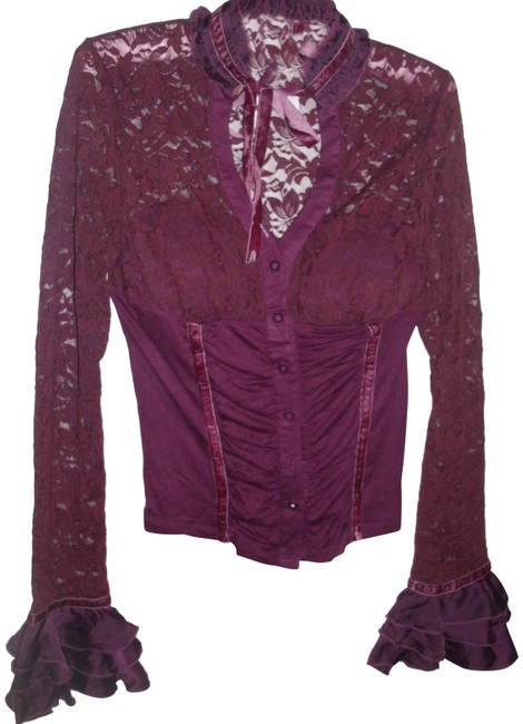 Preload https://img-static.tradesy.com/item/23382471/burgundy-plum-victorian-lace-velvet-ruffle-shirred-draped-button-down-night-out-top-size-8-m-0-1-650-650.jpg