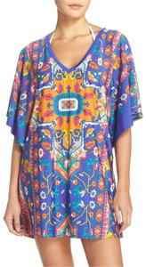 Trina Turk Tapestry Printed Strappy Back Tunic Swimsuit Cover Up