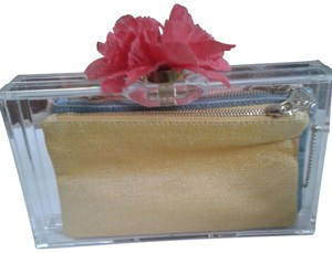 Charlotte Olympia Very Different Use With Any Colort Cute Flower Clasp clear,pink.blue,yellow Clutch