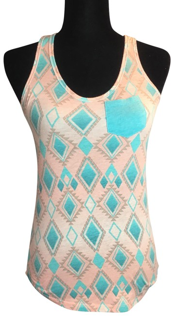 Preload https://img-static.tradesy.com/item/23382583/nollie-small-racerback-pink-and-teal-tank-topcami-size-4-s-0-1-650-650.jpg