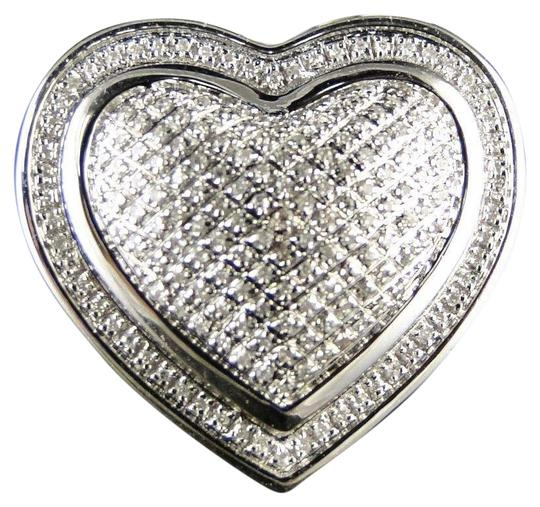 Preload https://img-static.tradesy.com/item/23382587/jewelry-unlimited-sterling-silver-womens-white-gold-finish-round-cut-heart-diamond-fashion-designer-0-1-540-540.jpg