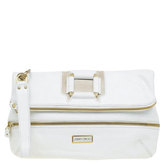 Preload https://img-static.tradesy.com/item/23382607/jimmy-choo-white-and-suede-large-mave-foldover-suedete-leather-clutch-0-0-540-540.jpg
