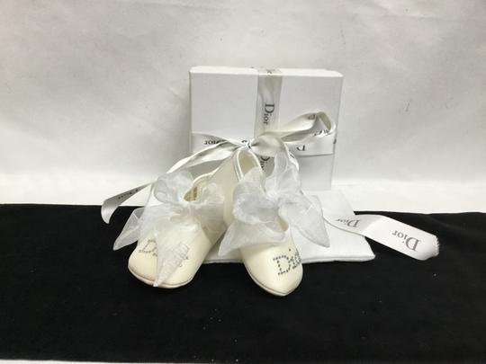 Dior Baby Dior white booties with bows