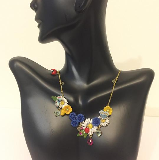 Les Néréides LES NEREIDES LOVE GARDEN FLOWERS ENAMEL 100% AUTHENTIC NECKLACE