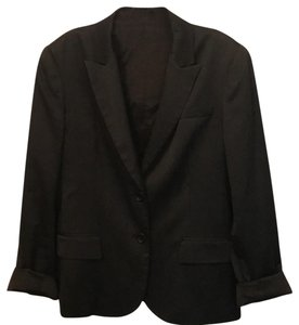 Theory Black Striped Blazer