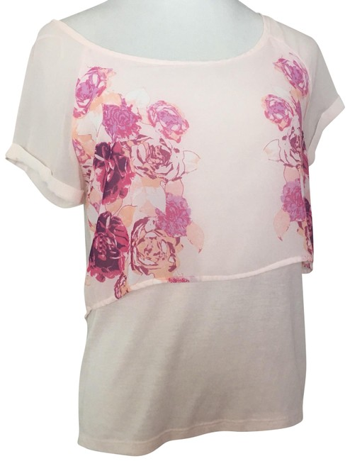 Preload https://img-static.tradesy.com/item/23382732/american-eagle-outfitters-light-pink-with-floral-design-small-blouse-size-4-s-0-1-650-650.jpg