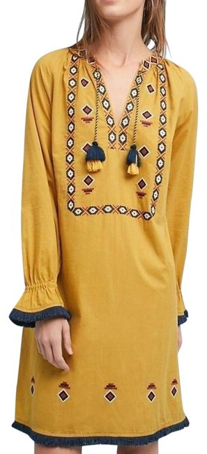 Preload https://img-static.tradesy.com/item/23382857/anthropologie-multi-color-merida-embroidered-tunic-by-riya-mid-length-night-out-dress-size-6-s-0-1-650-650.jpg