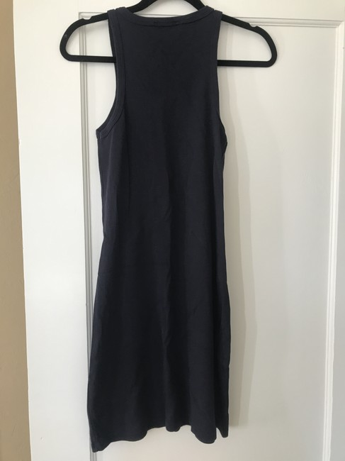 Lauren Ralph Lauren short dress Navy Blue Sleeveless Cotton Shift on Tradesy