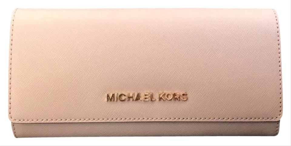 f92afc2f284a Michael Kors Pink Jet Set Carryall Leather Wallet - Tradesy