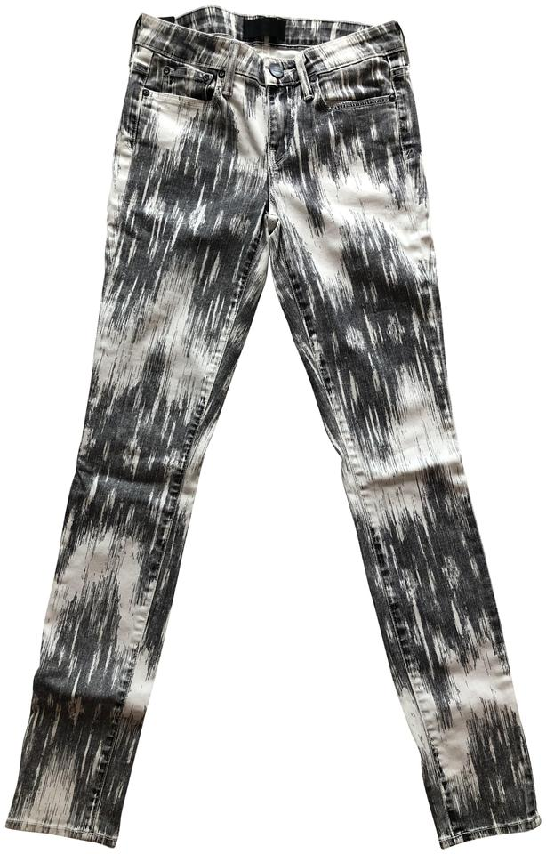 06ac35a4b91242 Vince Black and White Riley Skinny Jeans Size 24 (0, XS) - Tradesy
