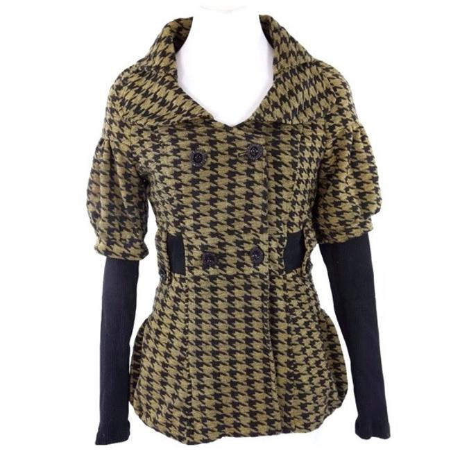 Preload https://img-static.tradesy.com/item/23383012/mustard-yellow-and-black-houndstooth-stretch-spring-jacket-size-12-l-0-0-650-650.jpg
