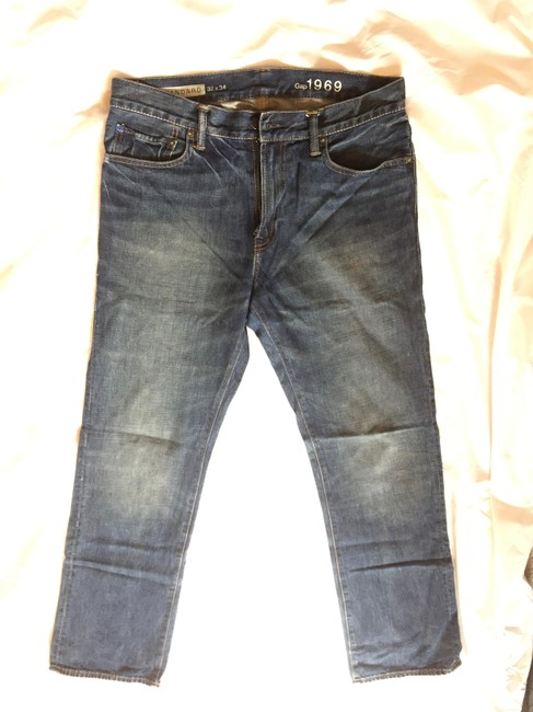 Gap Cotton Boot Cut Jeans-Distressed