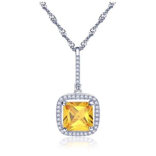 Other Swarovski Crystals 3 Carat Yellow Necklace S14