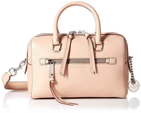Marc Jacobs Recruit M0008894 Bauletto Pebbled Leather Satchel in Nude