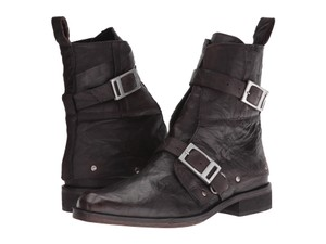 Free People Moto Ankle Edgy Eclectic Black Boots