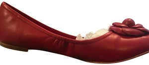 Saks Fifth Avenue red Flats