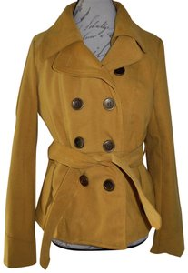 Paris Blues Tie-around Wool Double Breasted Trench Coat
