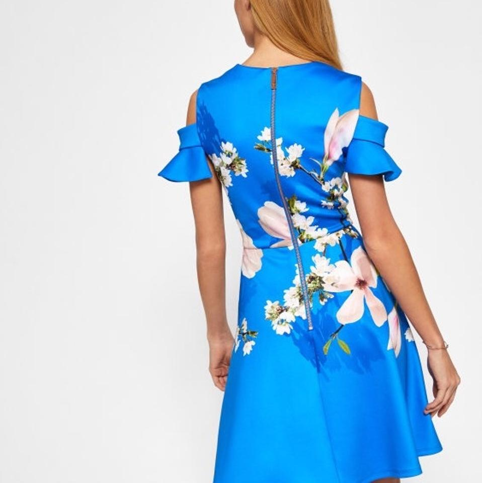 Ted Baker Bright Blue Ambre Harmony Cold Shoulder Mid-length ...