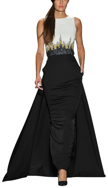 Preload https://img-static.tradesy.com/item/23383432/pamella-roland-block-sliveless-gown-hem-sweeps-the-floor-short-train-long-formal-dress-size-6-s-0-1-650-650.jpg