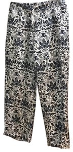 Ann Taylor LOFT Relaxed Pants Black White