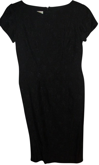 Preload https://img-static.tradesy.com/item/23383453/talbots-black-classy-little-brocade-tailored-fitted-sheath-night-out-dress-size-petite-4-s-0-1-650-650.jpg