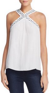 Ramy Brook Ivory Halter Top