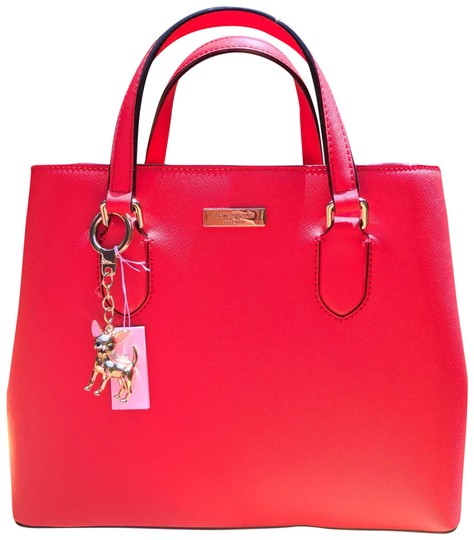 Preload https://img-static.tradesy.com/item/23383530/kate-spade-laurel-way-red-leather-satchel-0-1-540-540.jpg