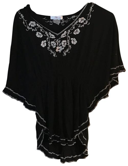 Preload https://img-static.tradesy.com/item/23383539/annabelle-black-and-white-boho-embroidered-blouse-size-8-m-0-1-650-650.jpg