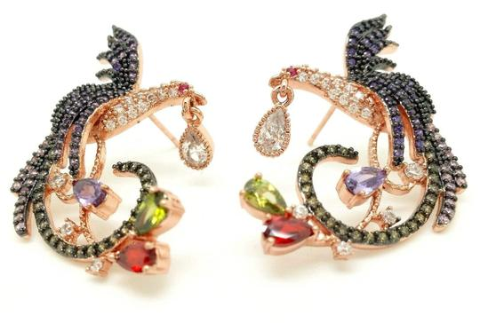 Preload https://img-static.tradesy.com/item/23383542/multi-color-621ctw-diamond-simulant-bird-of-paradise-14k-rgp-earrings-0-0-540-540.jpg