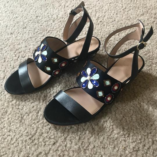 Tory Burch black multi color Sandals