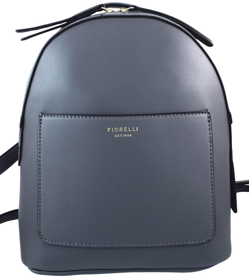 Fiorelli Anouk City Grey Faux Leather Backpack - Tradesy