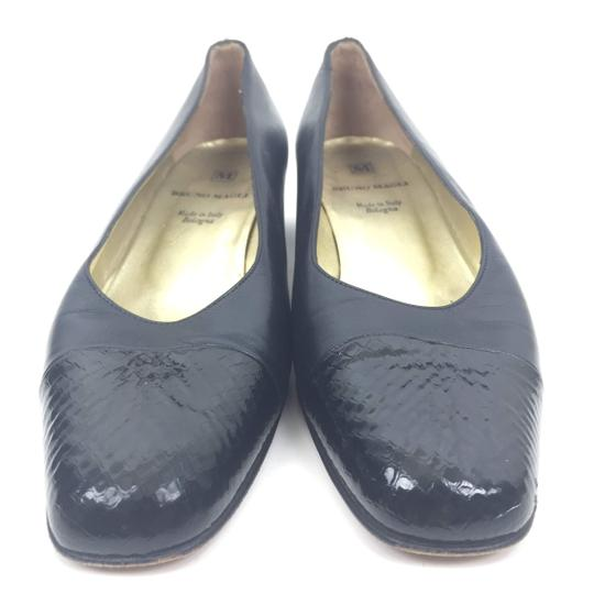 Bruno Magli Madeinitaly Leather Slipon Black Pumps