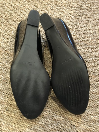 J.Crew Black Patent Wedges