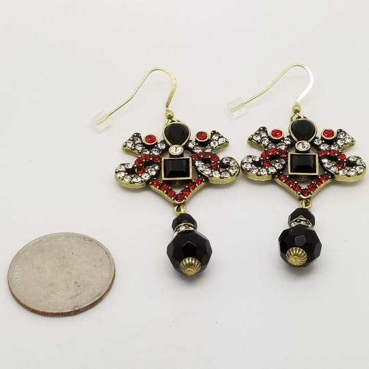 Titanic Reproductions Dorothy's Titanic Replica Red Black White Crystal Drop Dangle Earrings