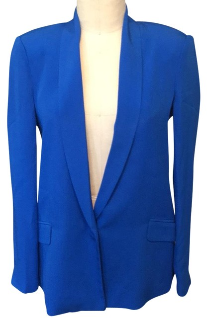 Preload https://img-static.tradesy.com/item/23383731/truth-and-pride-blue-silk-58719-blazer-size-6-s-0-1-650-650.jpg