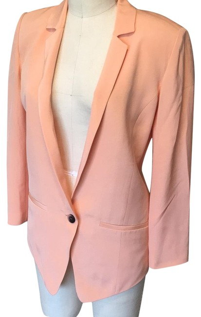 Preload https://img-static.tradesy.com/item/23383750/truth-and-pride-peach-silk-blazer-size-6-s-0-1-650-650.jpg