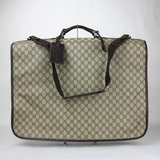 Gucci Unisex Brown/Beige Gg Supreme Canvas Garment Brown/beige Travel Bag