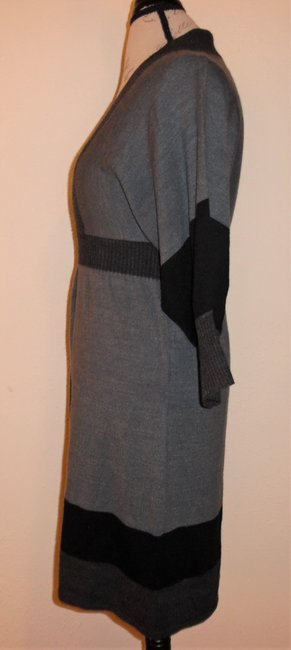 Connected Apparel short dress Charcoal Gray, Black Sweater Stretch on Tradesy