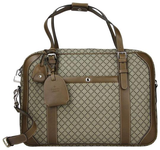 Preload https://img-static.tradesy.com/item/23383791/gucci-beigebrown-diamante-briefcase-wleather-trim-267898-9788-beigebrown-canvas-weekendtravel-bag-0-1-540-540.jpg