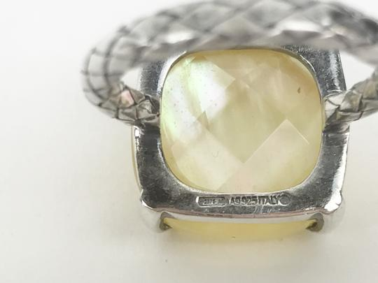 Bottega Veneta Botega Veneta Mother Of Pearl Lady's Sterling Silver Ring 925