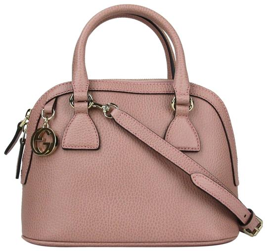 Preload https://img-static.tradesy.com/item/23383809/gucci-dome-gg-charm-wdetachable-strap-449661-5806-light-pink-leather-shoulder-bag-0-1-540-540.jpg