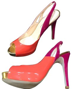 Audrey Brooke Orange Fushia Platforms