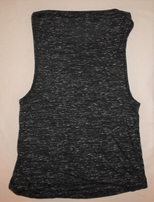 Bella Athletic Sleeveless Top Charcoal Gray