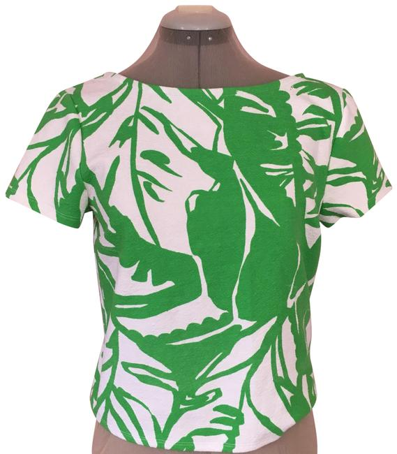 Preload https://img-static.tradesy.com/item/23383861/lilly-pulitzer-green-and-white-blouse-size-8-m-0-1-650-650.jpg