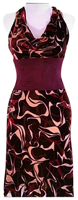 Preload https://img-static.tradesy.com/item/23383886/bcbgmaxazria-cranberry-and-taupe-collection-mid-length-cocktail-dress-size-2-xs-0-7-650-650.jpg