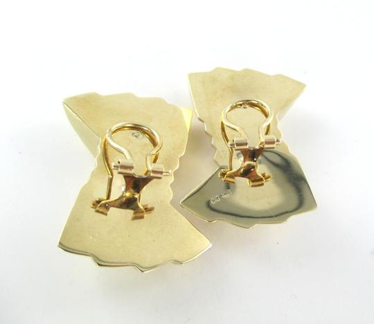 Other 14KT YELLOW GOLD EARRINGS RIBBON HOLLOW CLIP FINE JEWELRY 9.7 GRAMS ART DECO Image 5