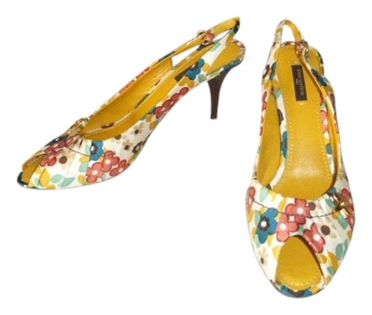 Louis Vuitton FLORAL CANVAS Mules