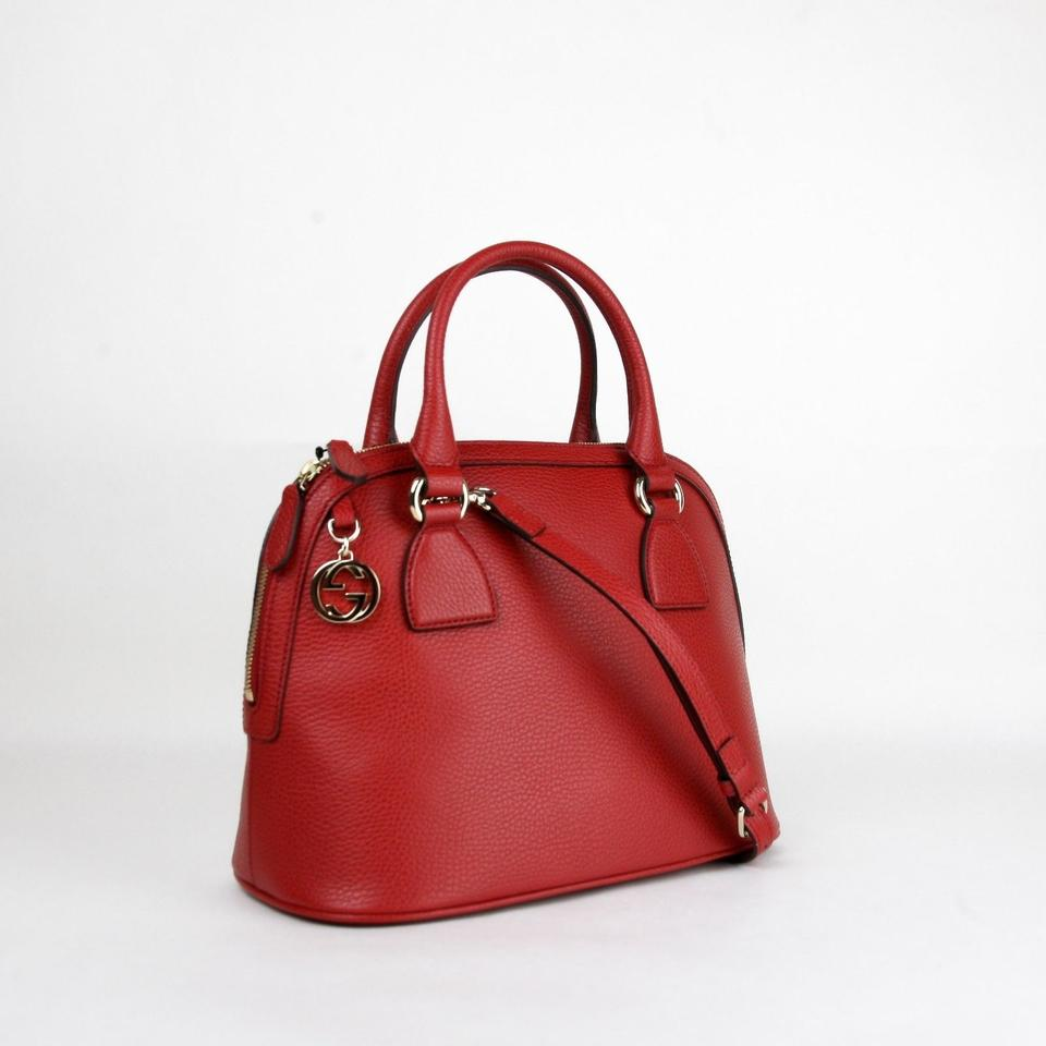 e3d4be613b68 Gucci Dome Medium Gg Charm Convertible 449662 6420 Red Leather Cross ...