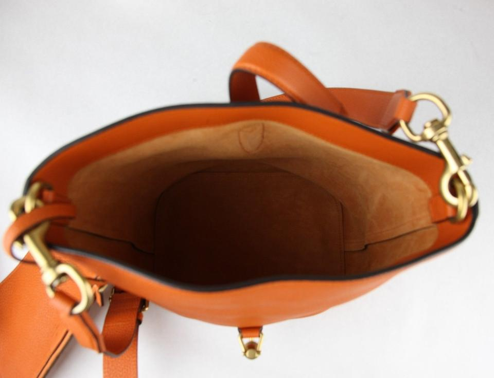ceb97804b54 Gucci Jackie Bucket W 2 Straps and Pouch 380579 7575 Orange Leather ...