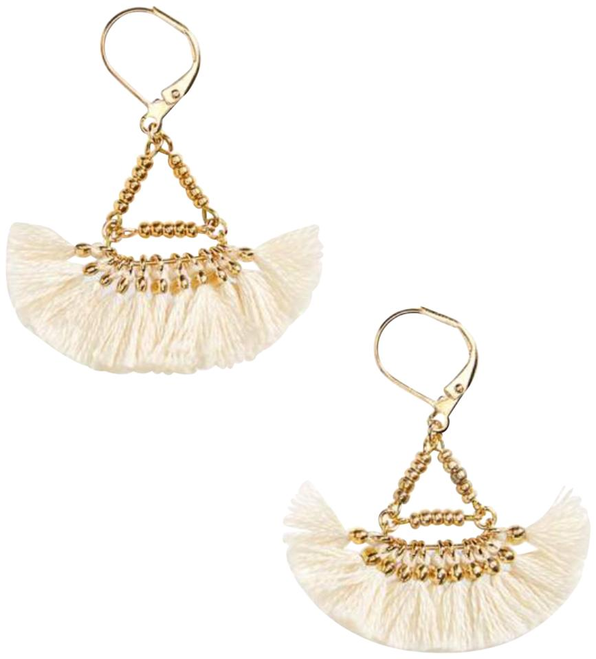 Nordstrom Shashi Lilu Tel Earring With 18k Gold Plated